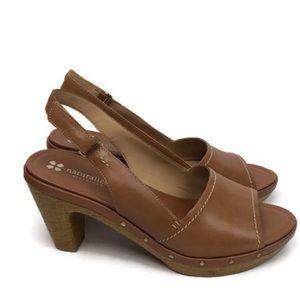 Naturalizer Platform Heel Honey Tan Size 9.5